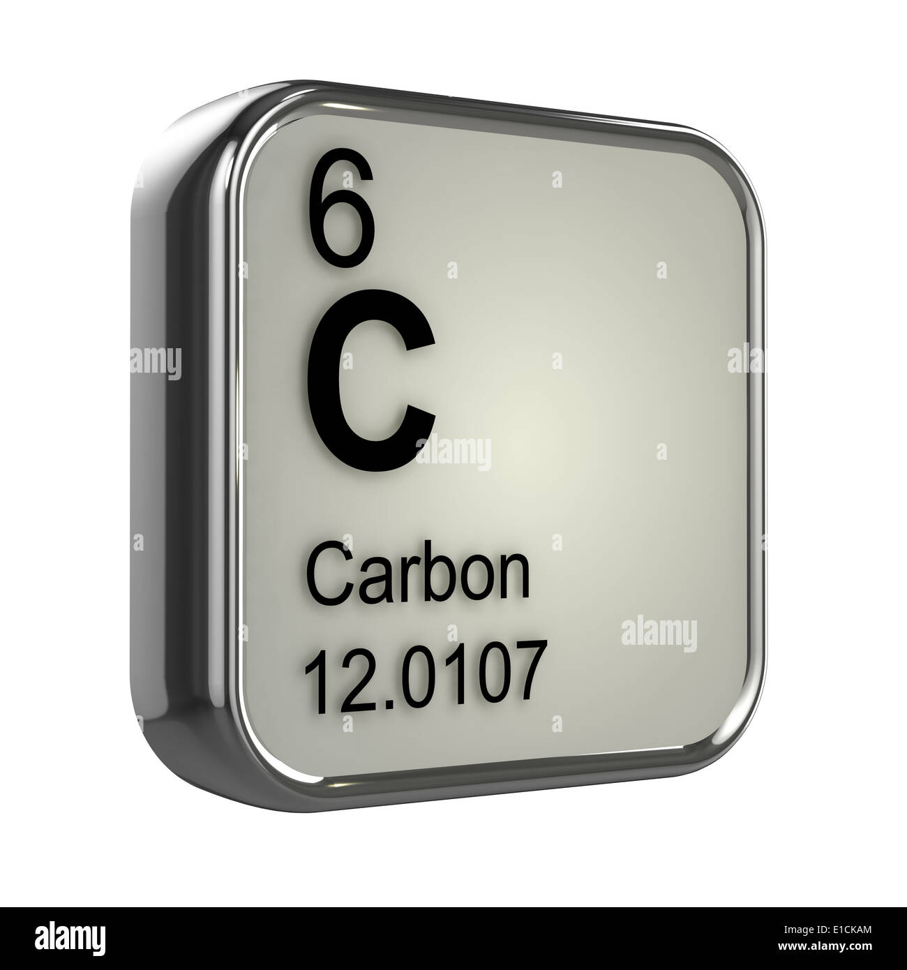 3d periodic table design for carbon element stock photo royalty 3d periodic table design for carbon element gamestrikefo Gallery