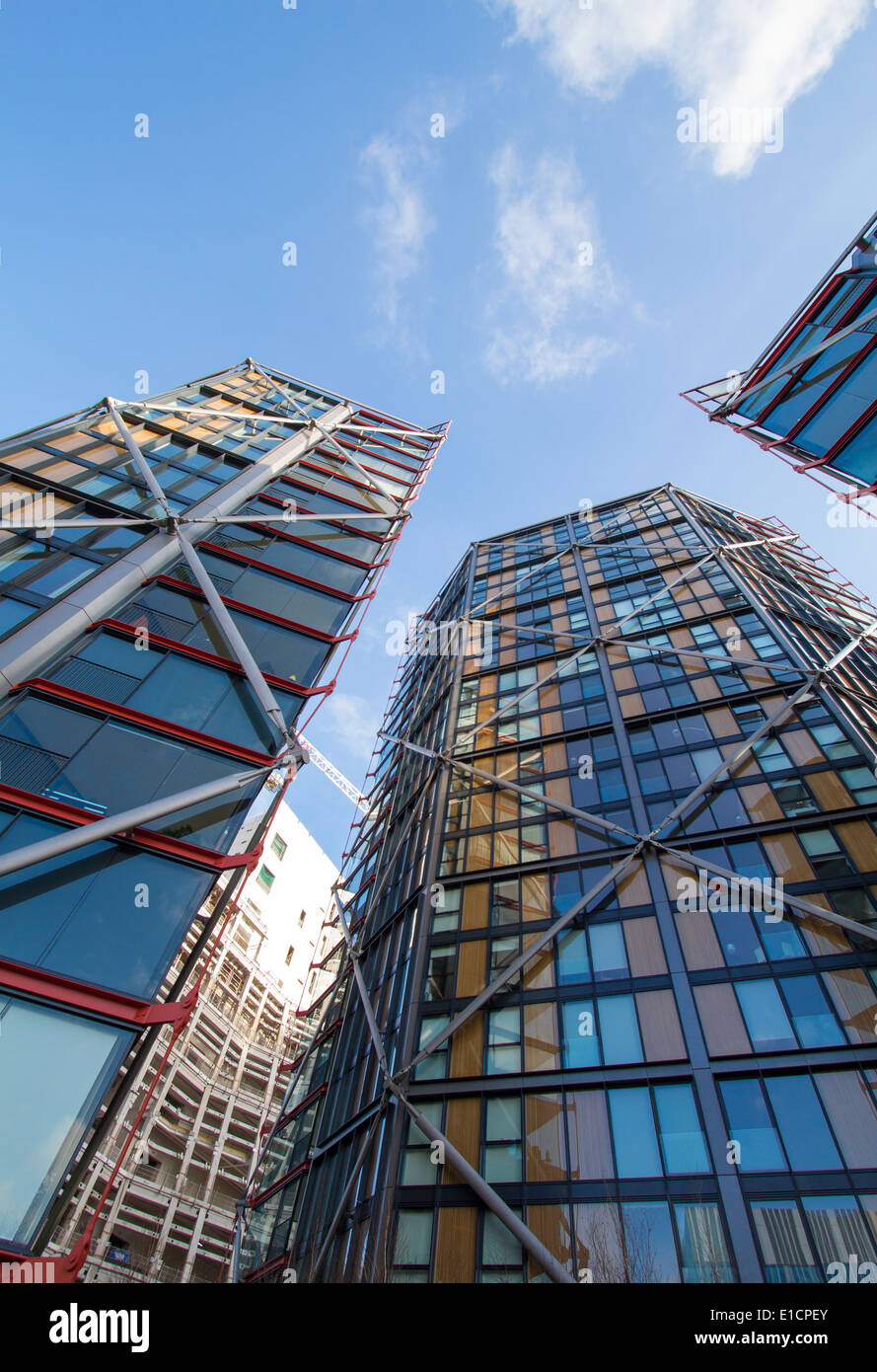 Image Of Neo Bankside On The South Bank In London Showing Three Stock Photo Royalty Free Image
