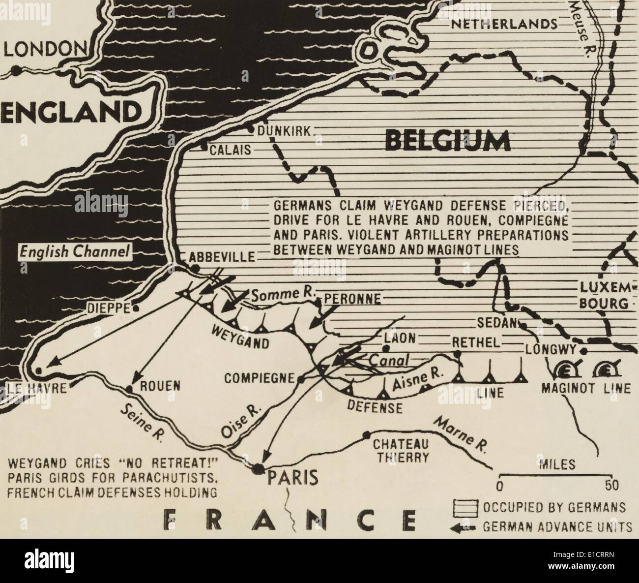 Early 20th century british map shows red coated soldiers looking map of german world war 2 invasion and allied resistance in early june 1940 the gumiabroncs Choice Image