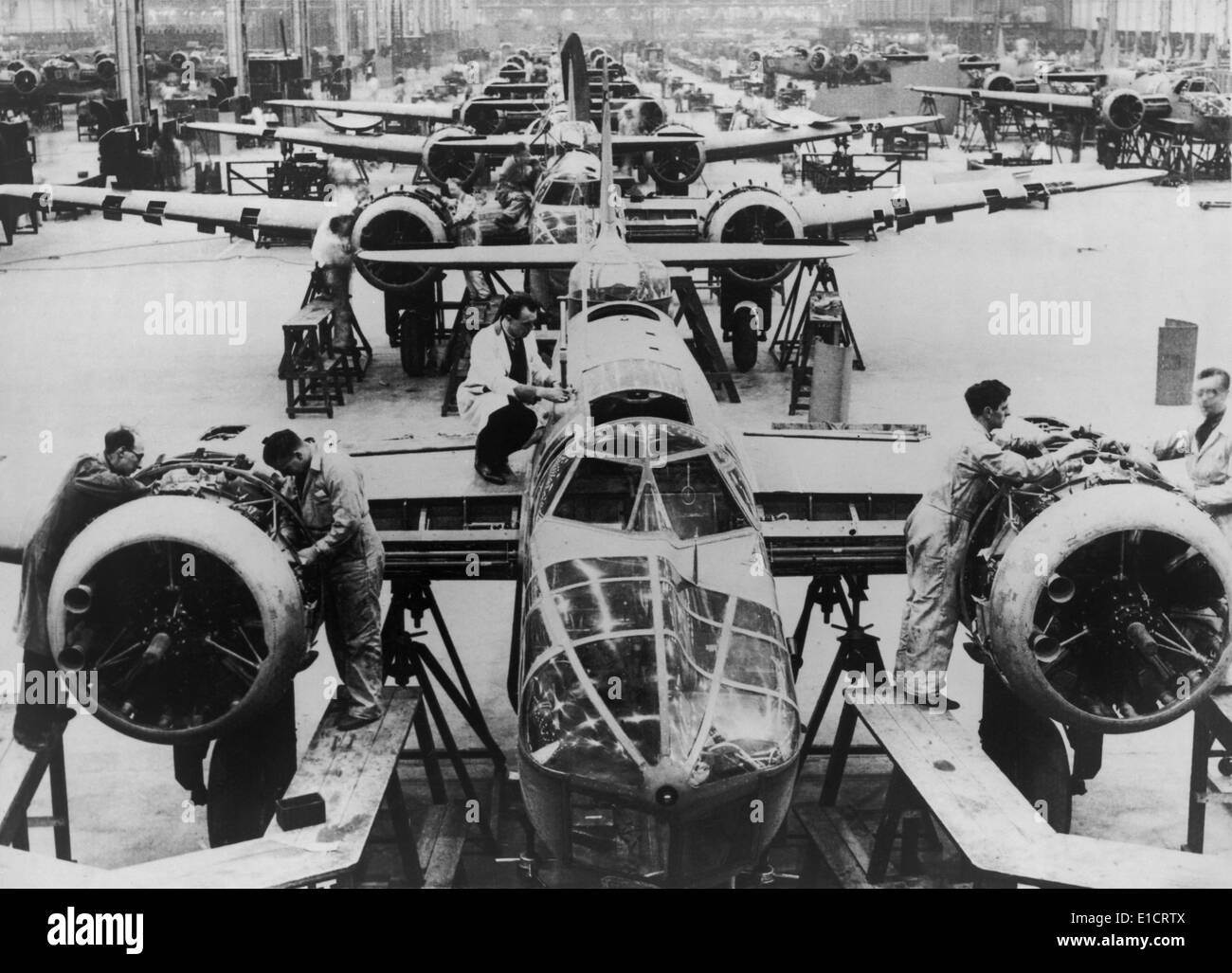 Great Britain manufacturing Blenheim bombers at the beginning of ...