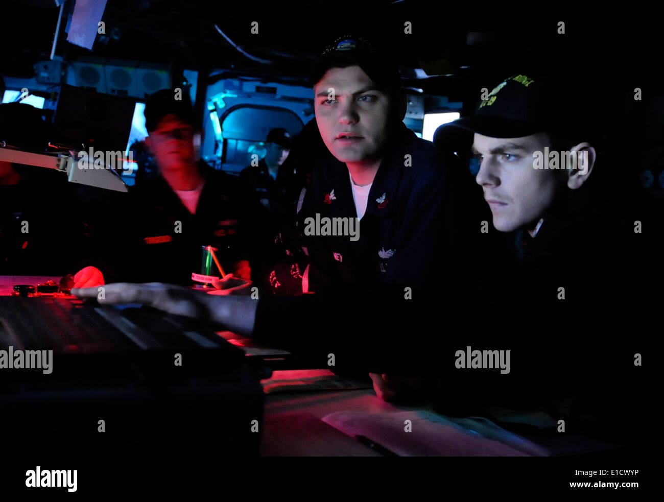 U.s. Navy Quartermaster 1st Class Daniel Mcelvaney, Assigned To ...
