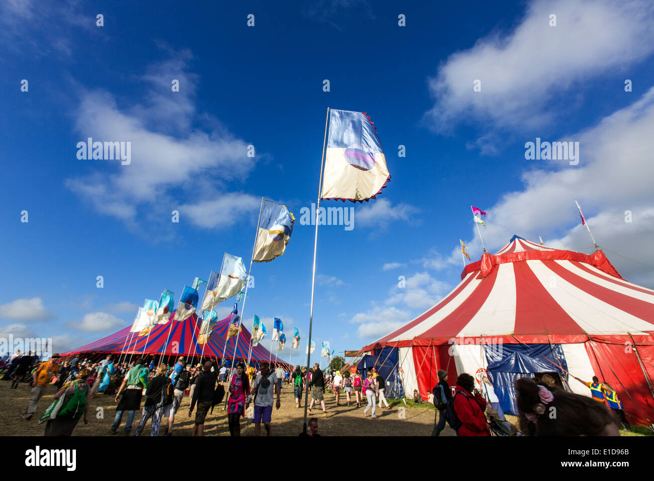 Acoustic and Pilton Palace tents. Glastonbury Festival 2013 & Acoustic and Pilton Palace tents. Glastonbury Festival 2013 Stock ...