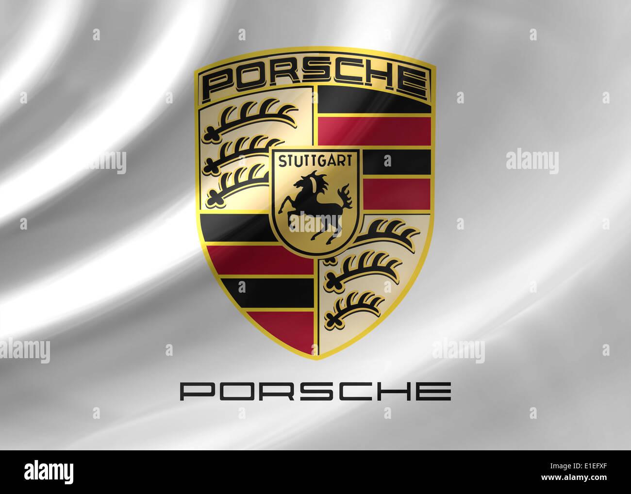 Porsche Logo Symbol Icon Flag Emblem Stock Photo Royalty