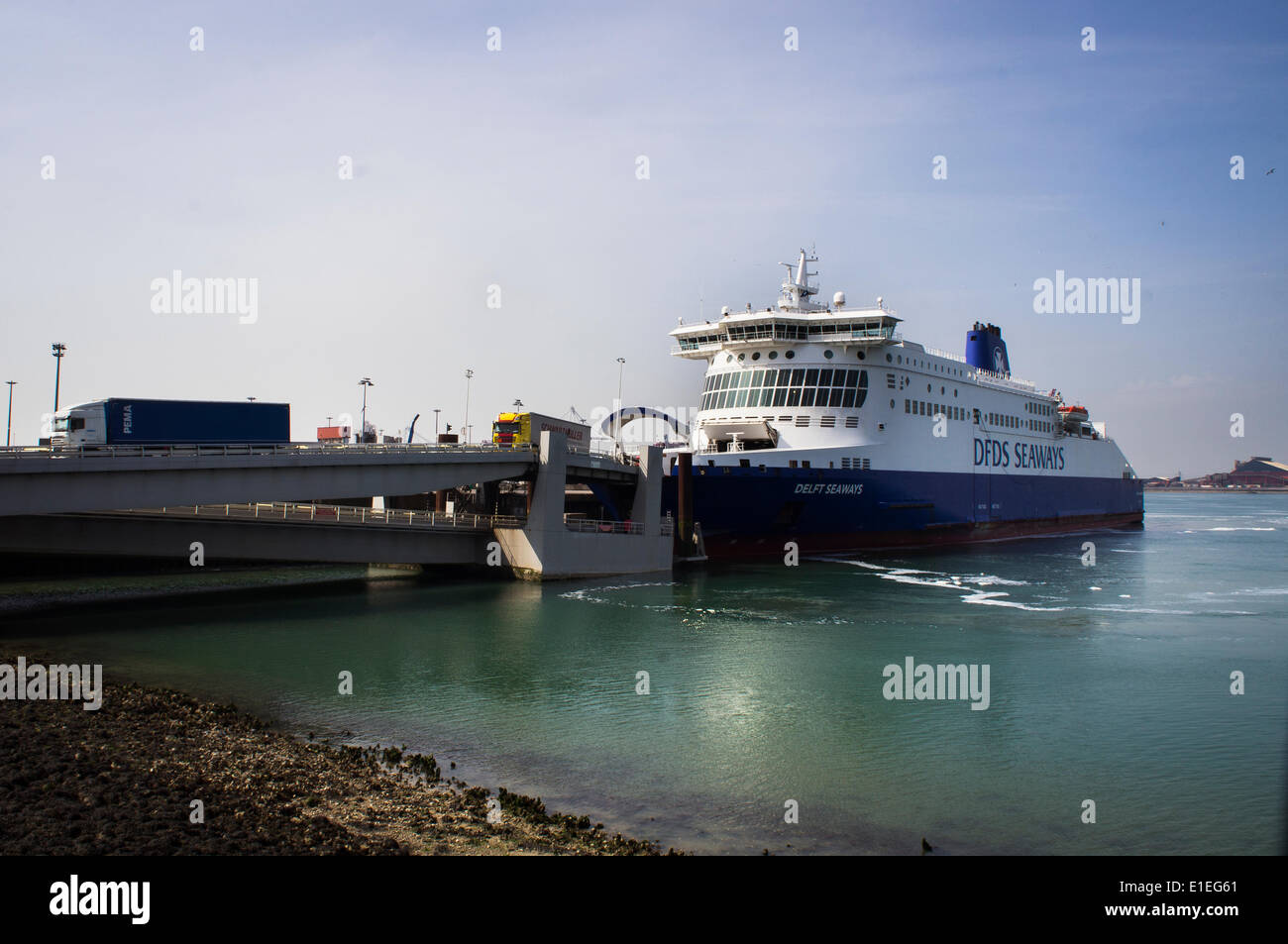 Dunkerque dunkirk port ferry ferryboat ship dfds seaways stock photo royalty free image - Dunkirk port france address ...