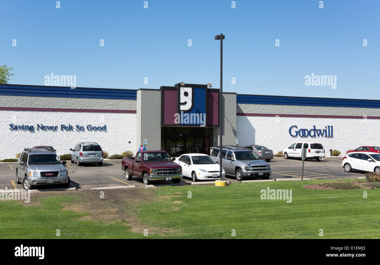 Goodwill Industries Thrift Store Manitowoc, Wisconsin Stock Photo ...