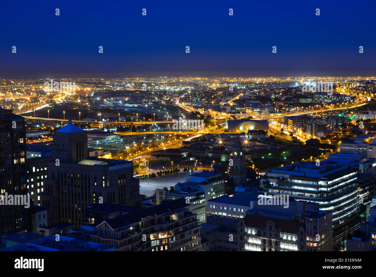 An Elevated View Of Cape Towns Central Business District With Stock Photo Ro