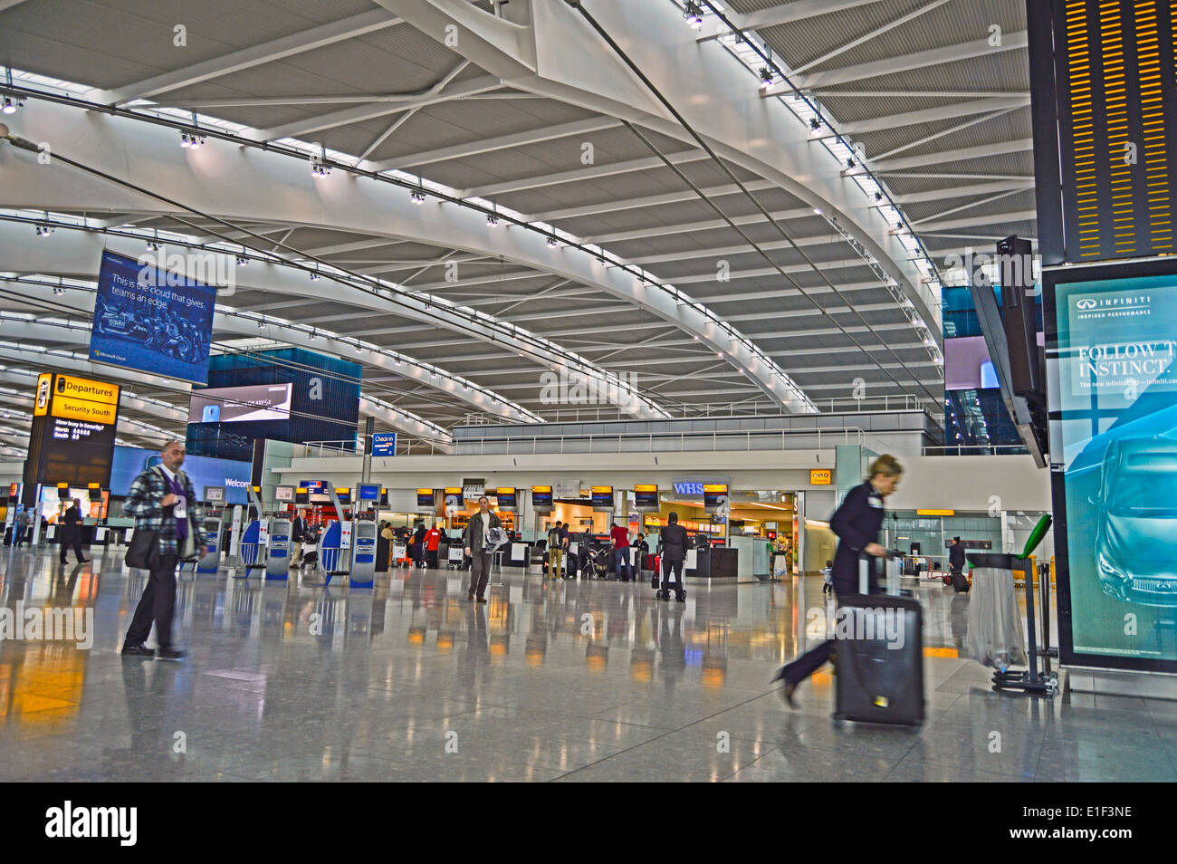 view of terminal 5 departures at heathrow airport london