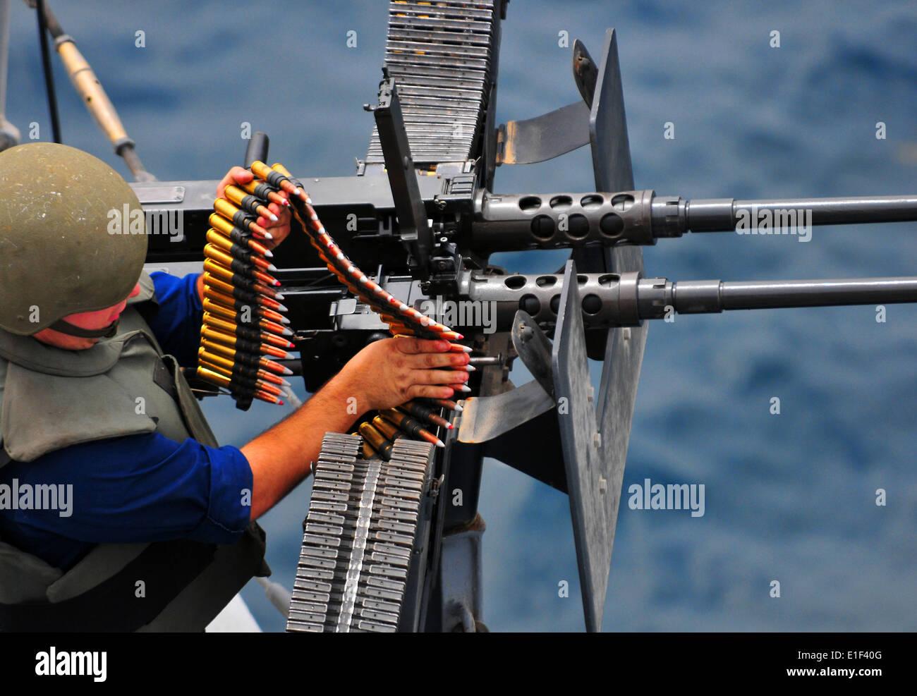 U.S. Navy Gunner?s Mate 3rd Class Matthew Montalbano loads a Stock ...