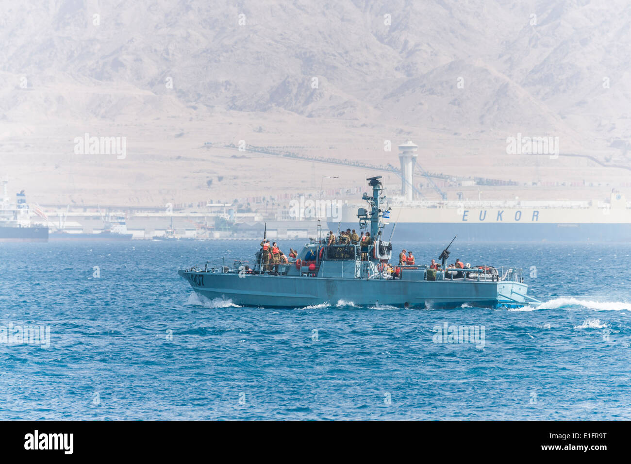 Eilat Israeli Patrol Boat Near The Nautical Border With Jordan - Where is jordan located