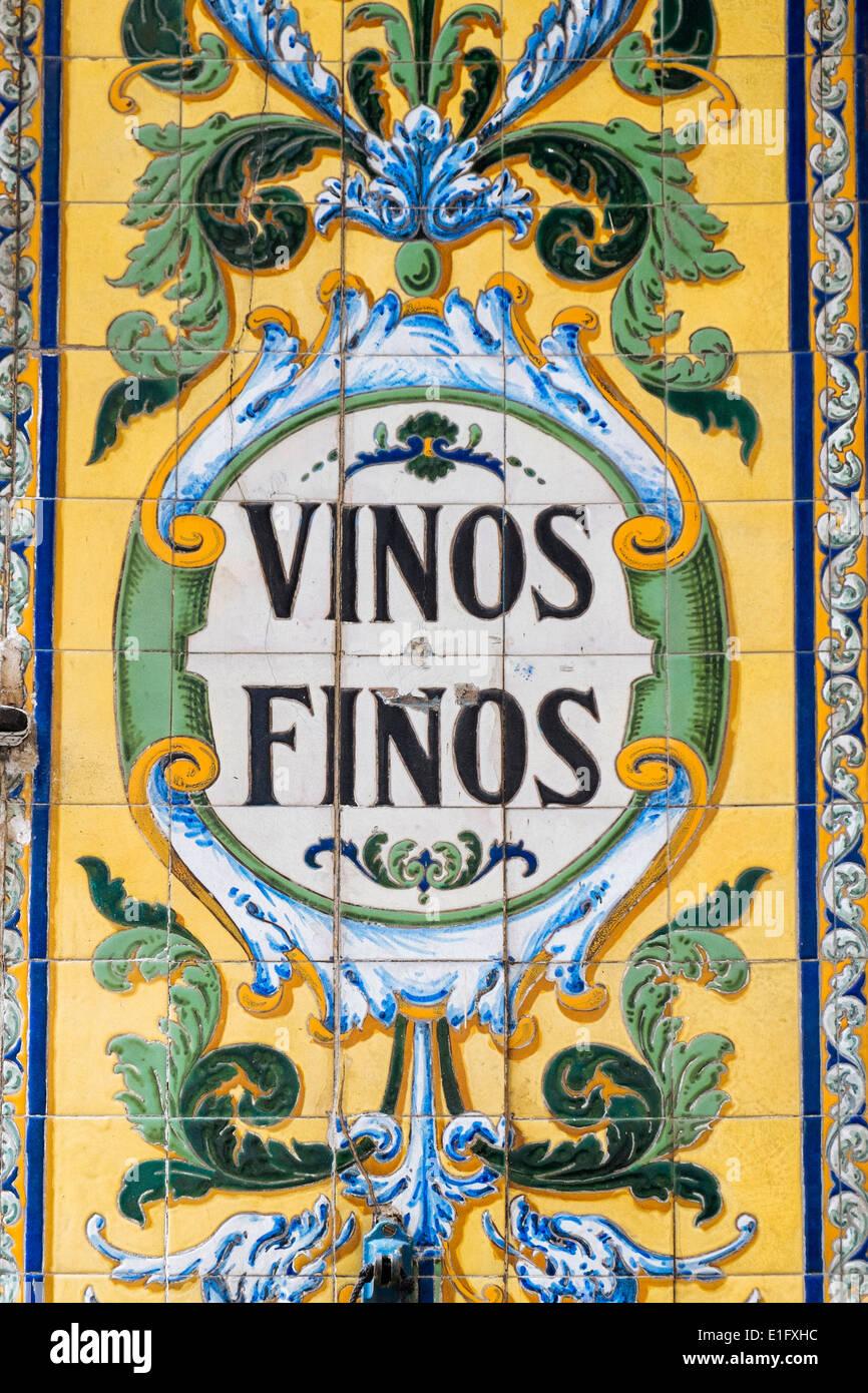 Detail Of Azulejos Tile Work Decoration Outside Bar Viva