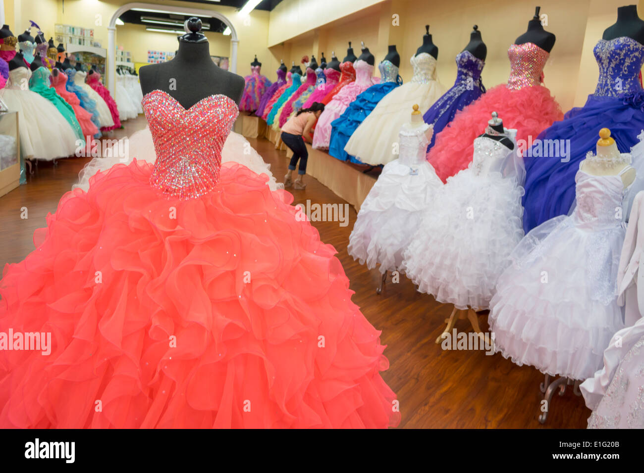 Quinceanera Dress Shop, Los Angeles, California Stock Photo ...