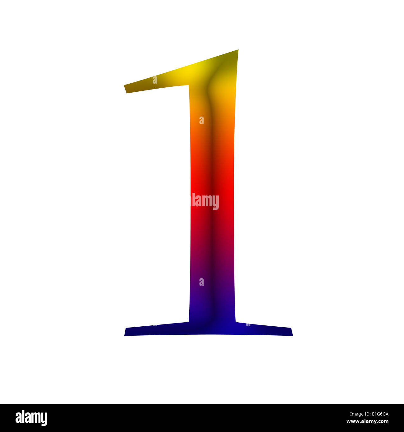 number one 1 made from rainbow color stock photo royalty free
