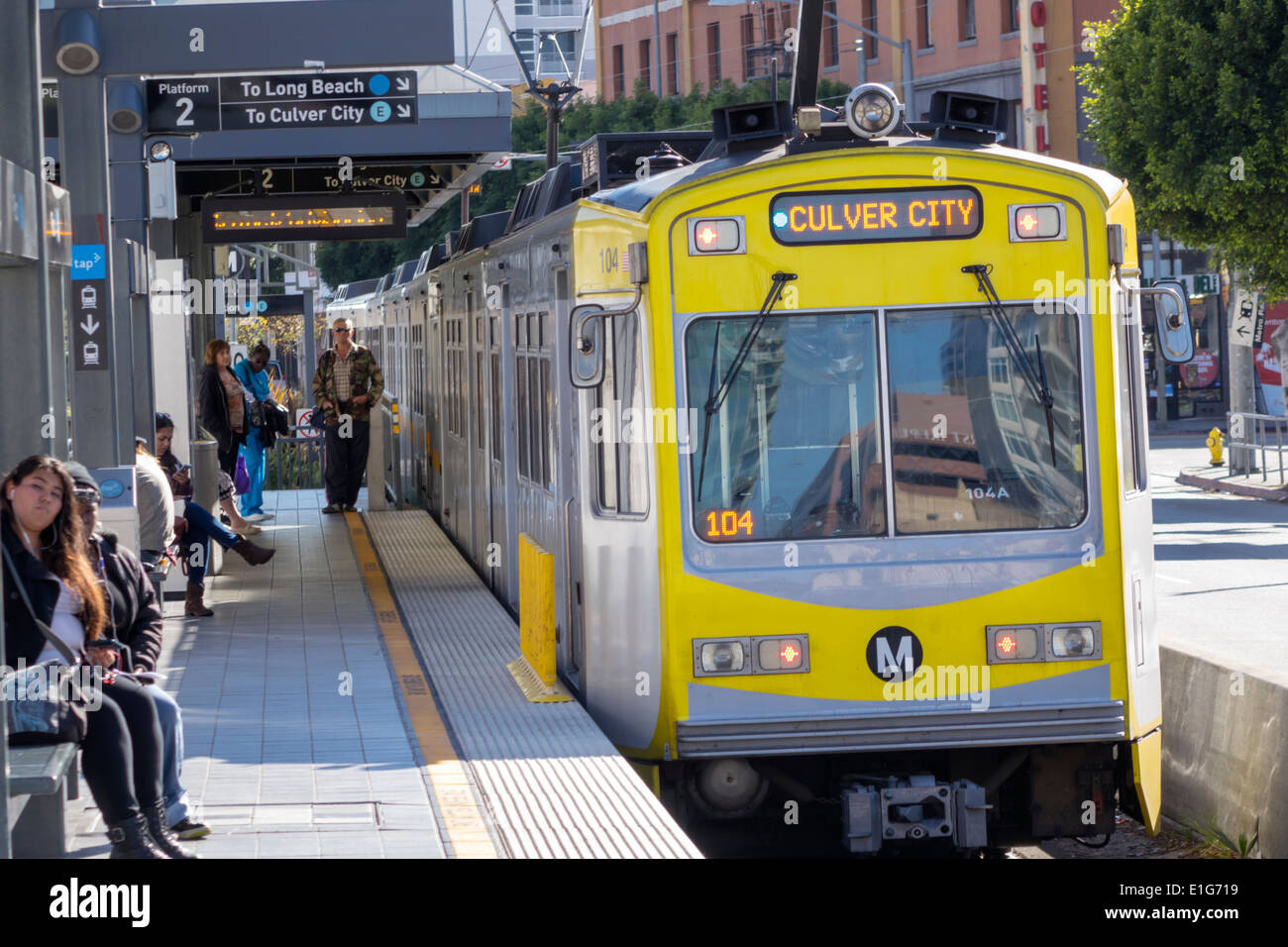 Los Angeles California CA Downtown LA County Metro Rail urban rail ...
