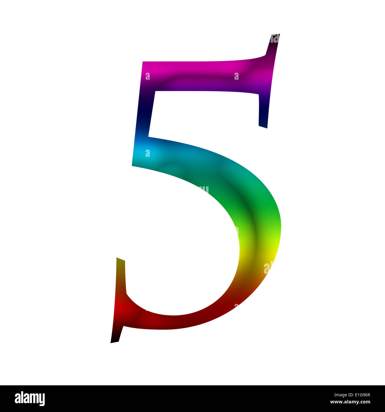 number five 5 made from rainbow color stock photo royalty free