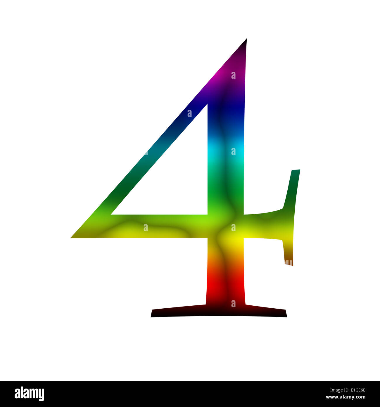 Number four, 4 made from rainbow color Stock Photo: 69818518 - Alamy