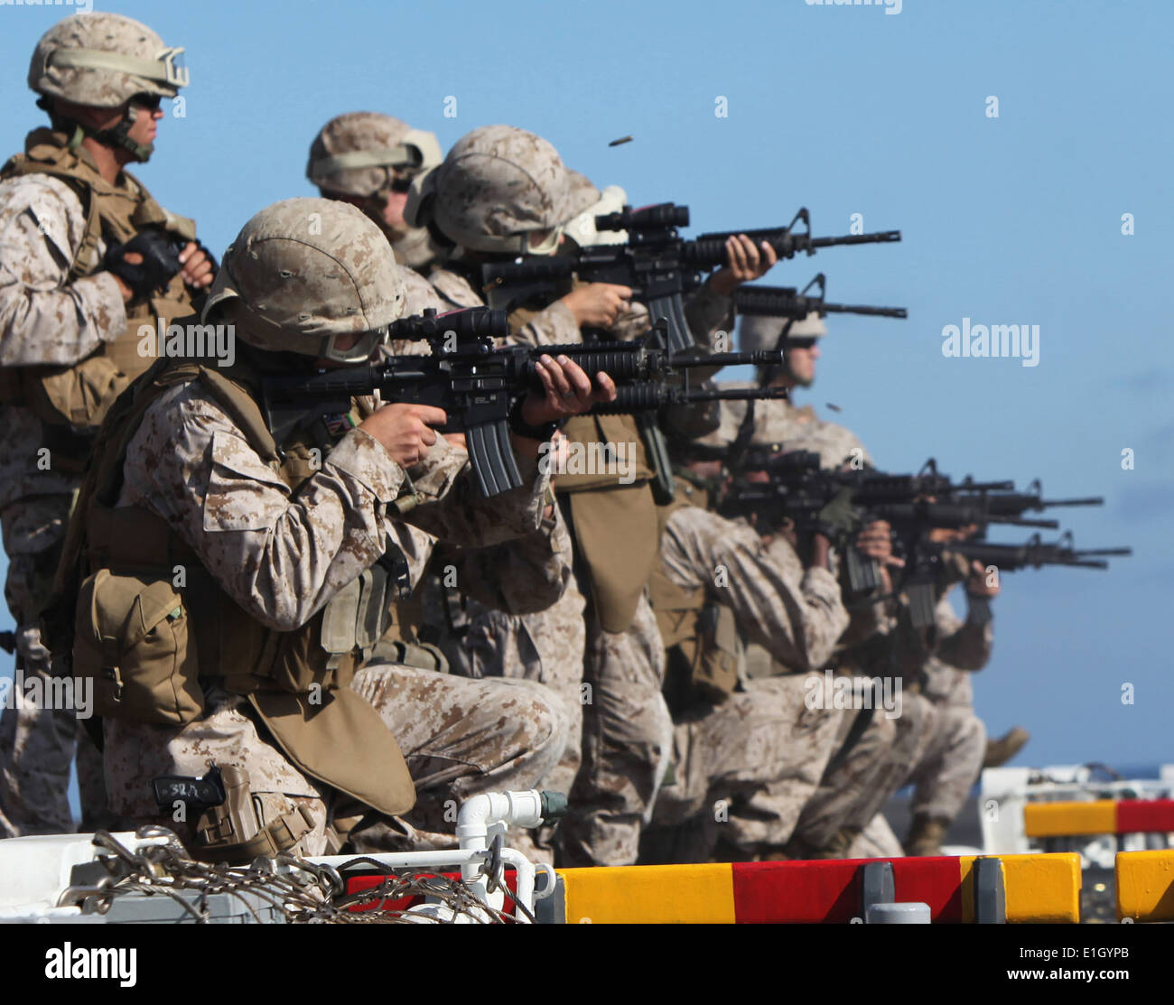 U.S. Marine Corps military police (MP) officers with Combat ...