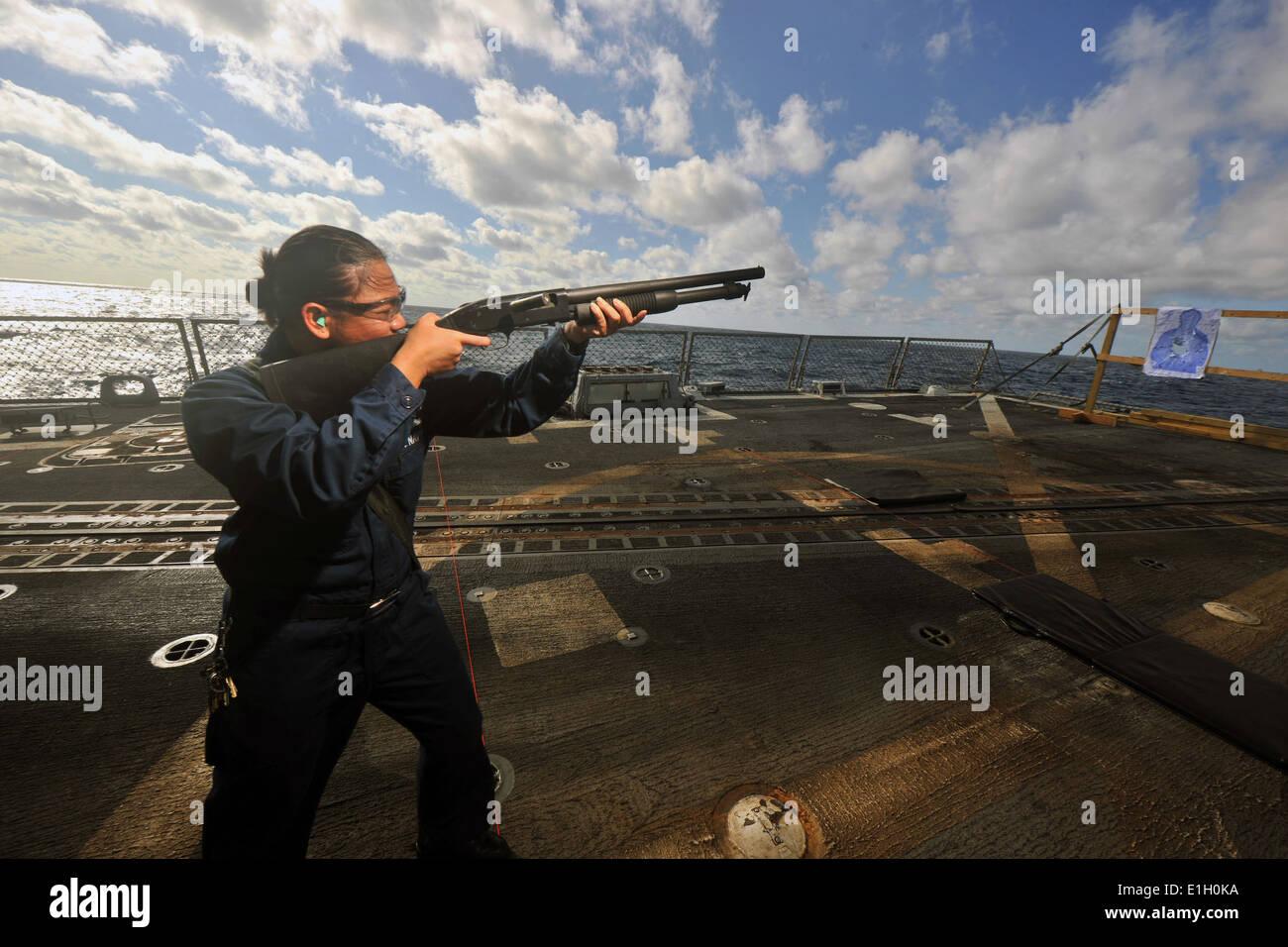 U.S. Navy Logistics Specialist 1st Class Ryan Enguacho, assigned ...