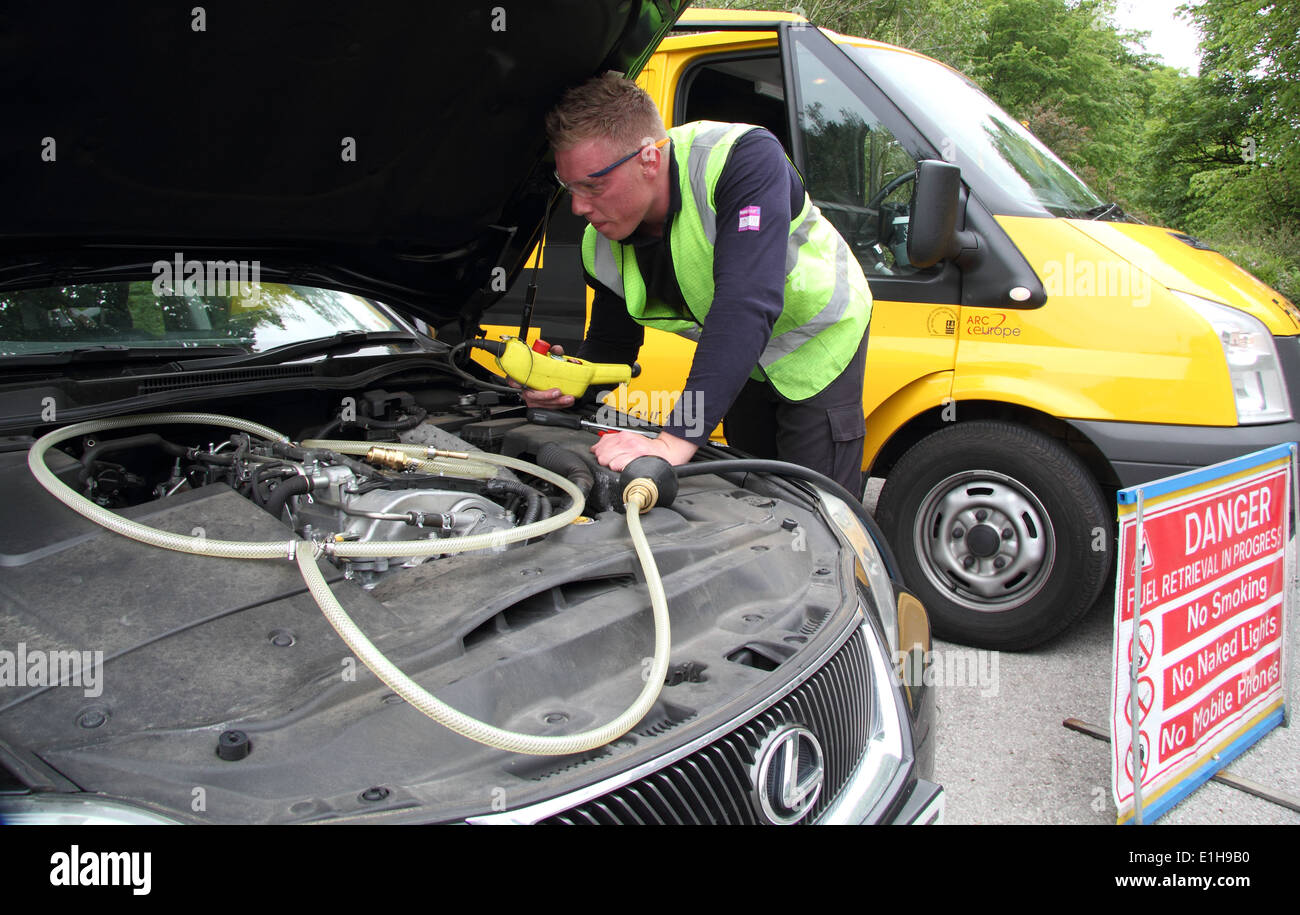 how to fix wrong fuel in car
