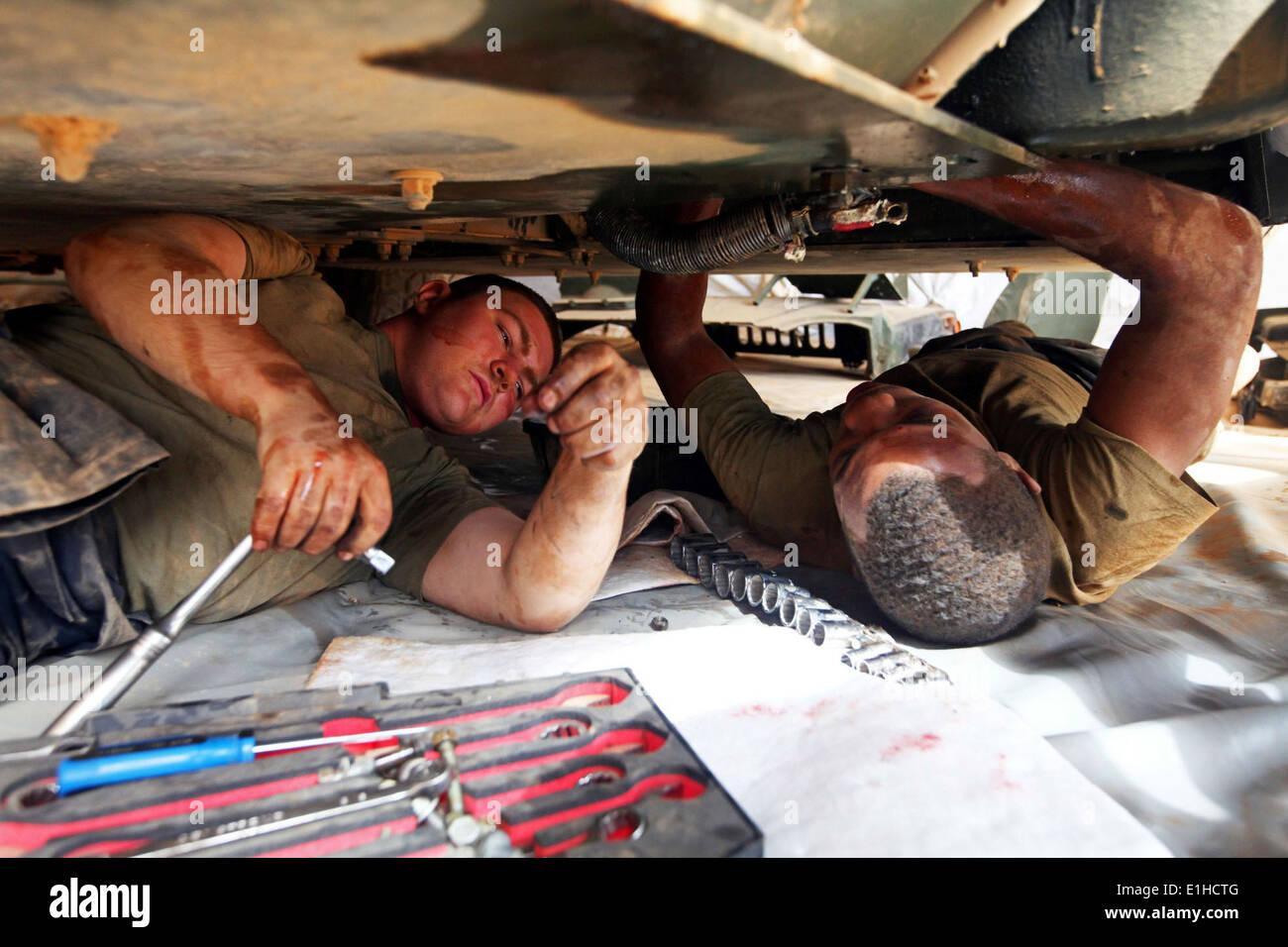 U.S. Marine Corps Lance Cpl. Bryan Planty, left, and Lance Cpl ...