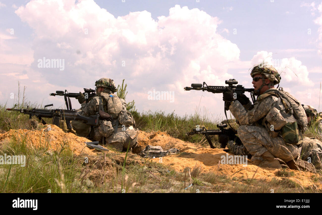 U.s. Soldiers With The Pennsylvania Army National Guard Repel An ...