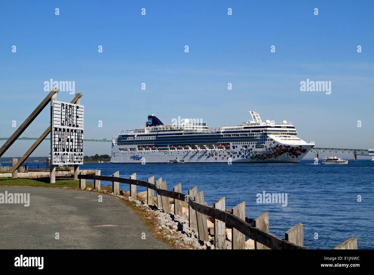 Cruise Ship Harbor Newport Rhode Island