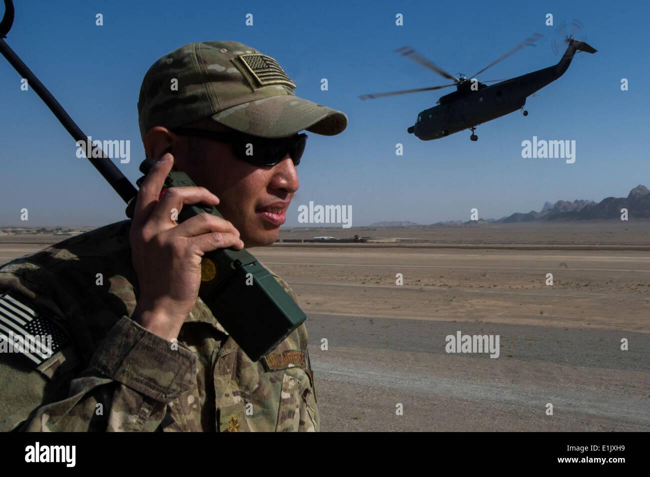 U.S. Air Force Maj. Brian Cruz, an air mobility liaison