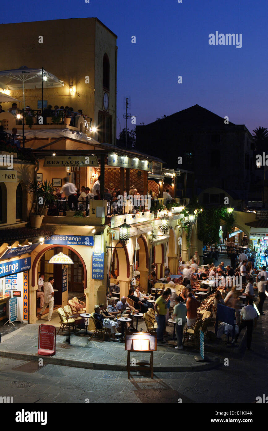 Gallery images and information kos greece nightlife - Nightlife Rhodes Island Rhodes Town Greece Stock Image