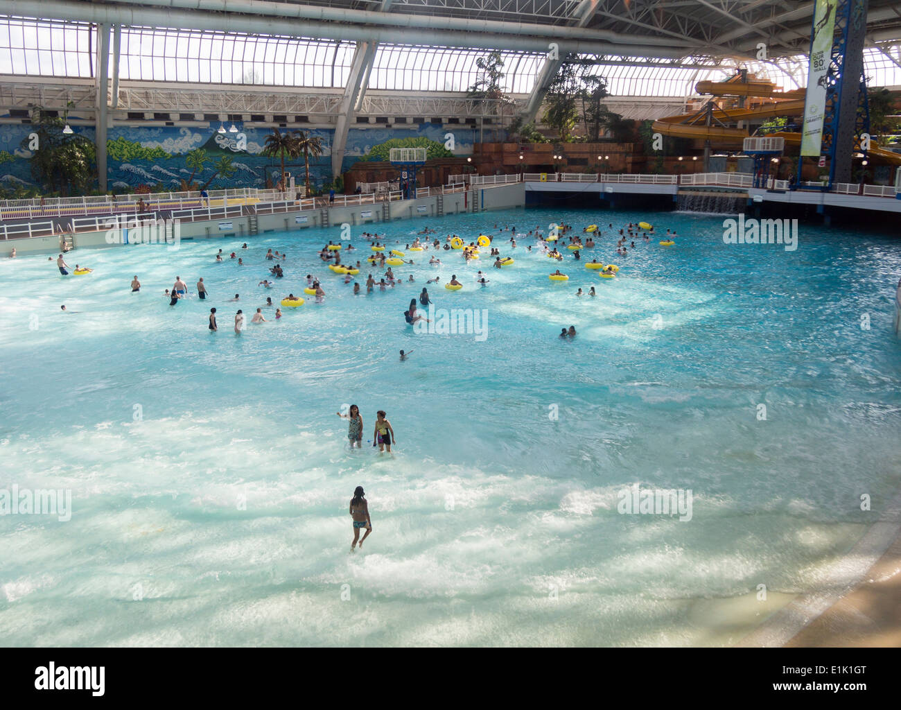 Wave Pool At The West Edmonton Mall The Large Indoor Pool At This Stock Photo Royalty Free