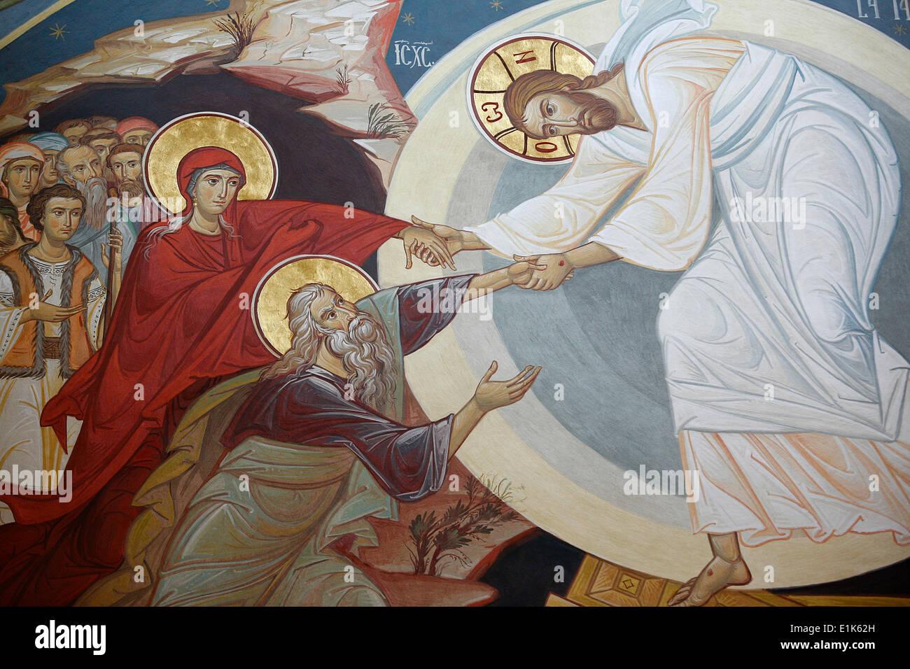 resurrection jesus adam and eve stock photo royalty free image
