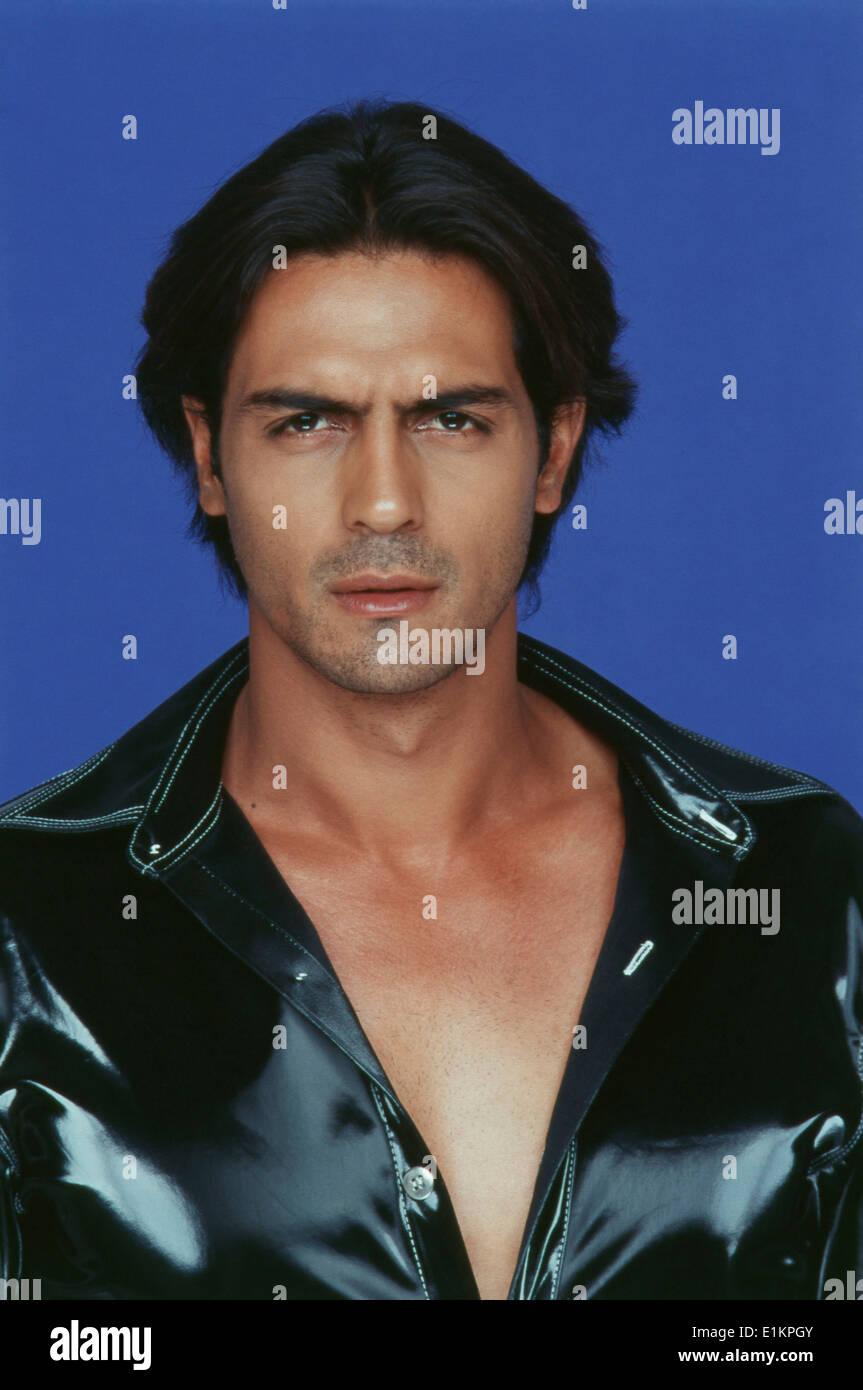 portrait of arjun rampal indian film actor stock photo