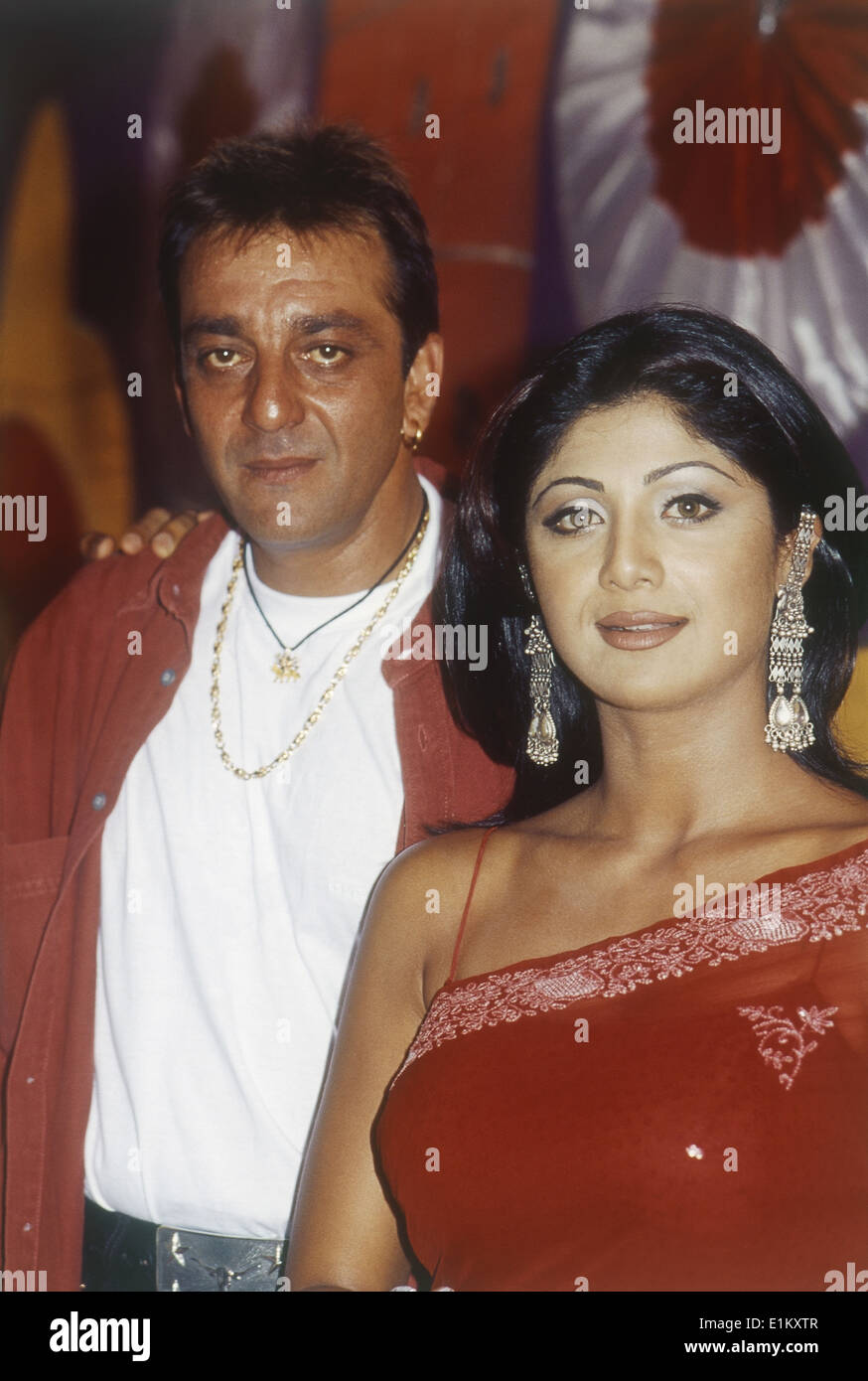 Portrait of Indian film actor Sanjay Dutt and actress ...