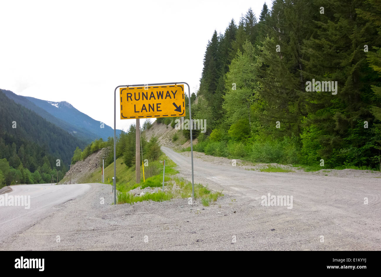 entrance-and-sign-for-runaway-lane-on-a-
