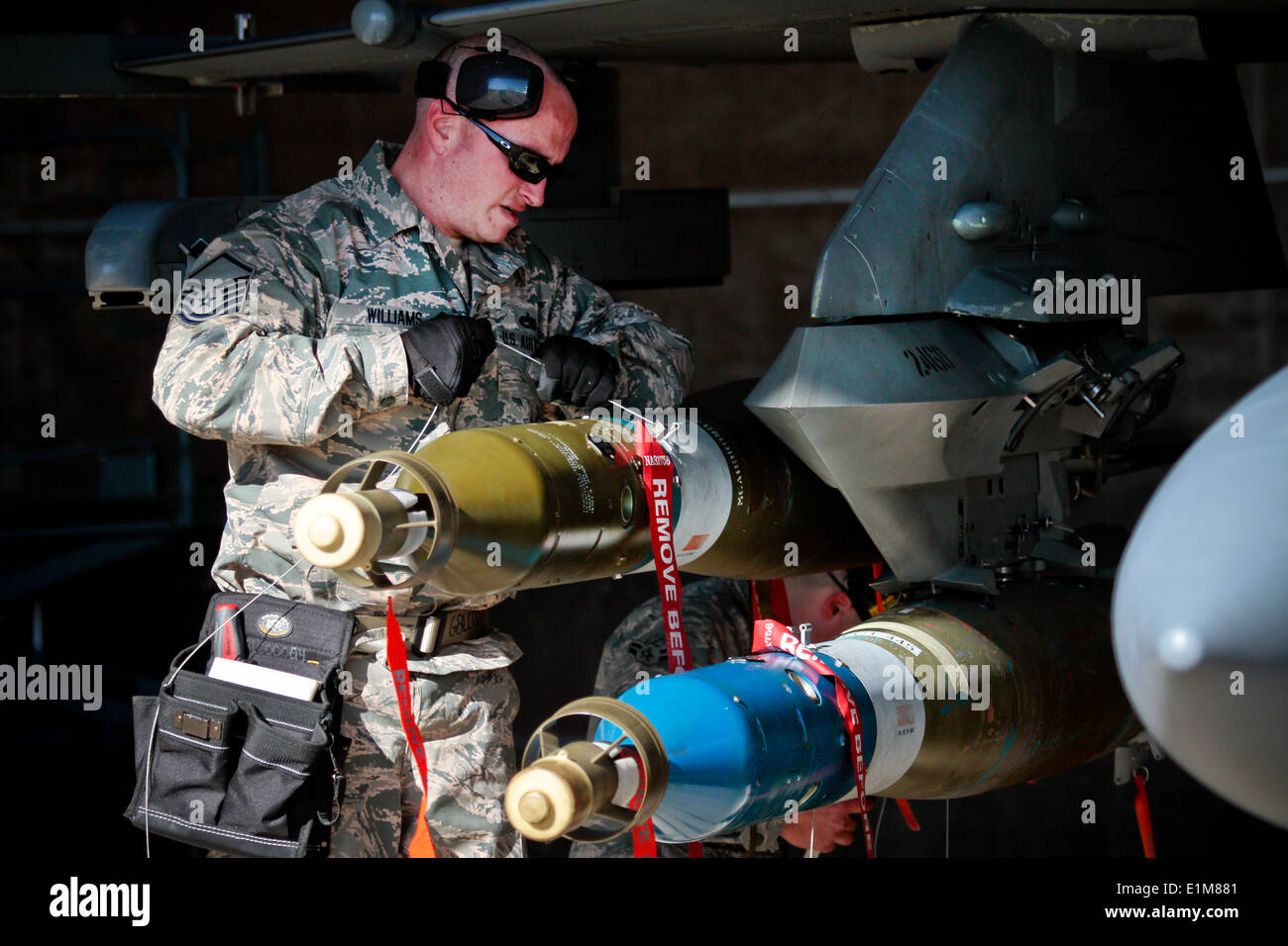 u s air force master sgt keith williams an aircraft armament stock photo u s air force master sgt keith williams an aircraft armament systems specialist assigned to the 177th aircraft maintenance s