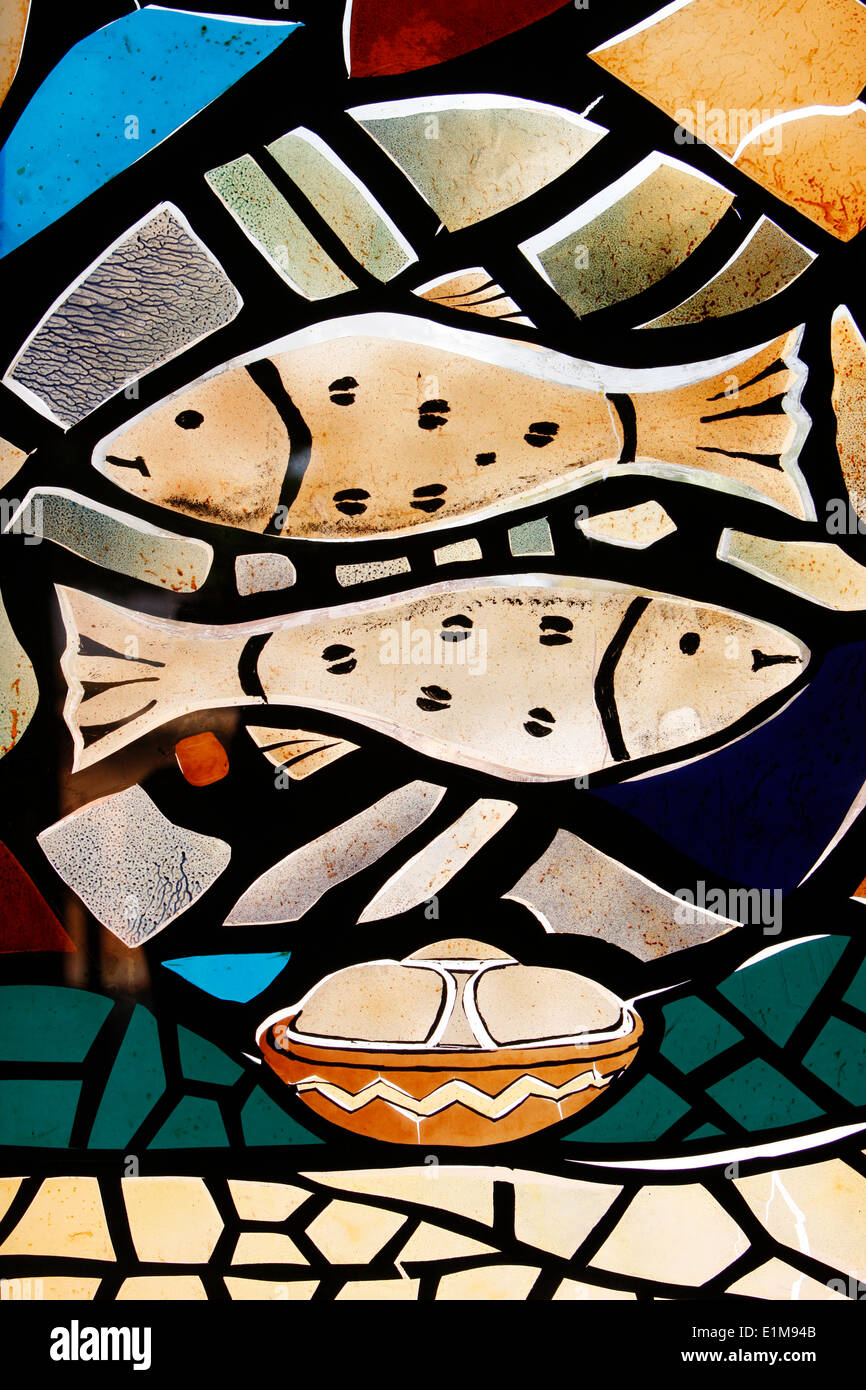 Christian fish stock photos christian fish stock images alamy stained glass christian symbols the fish symbolizing early christians stock image biocorpaavc