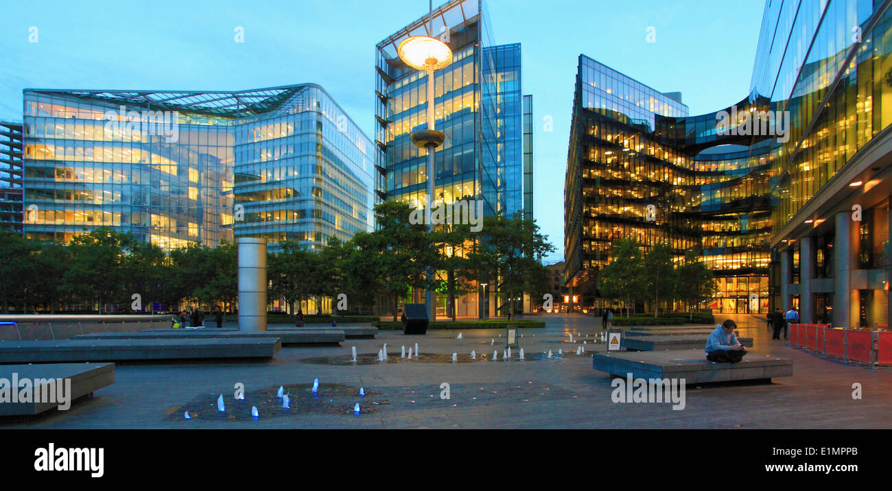 Modern Architecture In London uk, england, london, city hall area, modern architecture stock