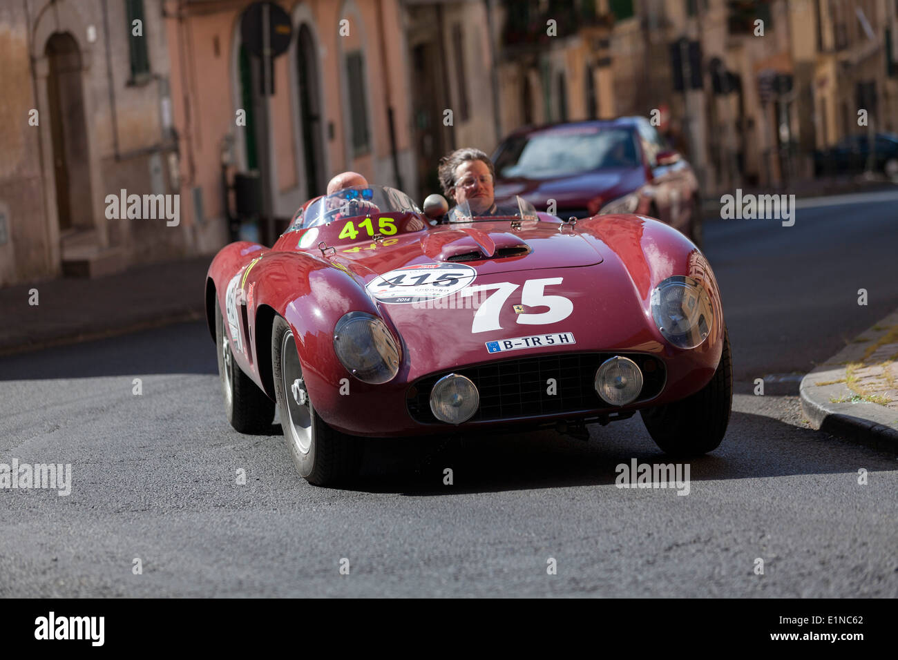 Ferrari Tr Spider Takes A Bend In The Mille Miglia Rally For