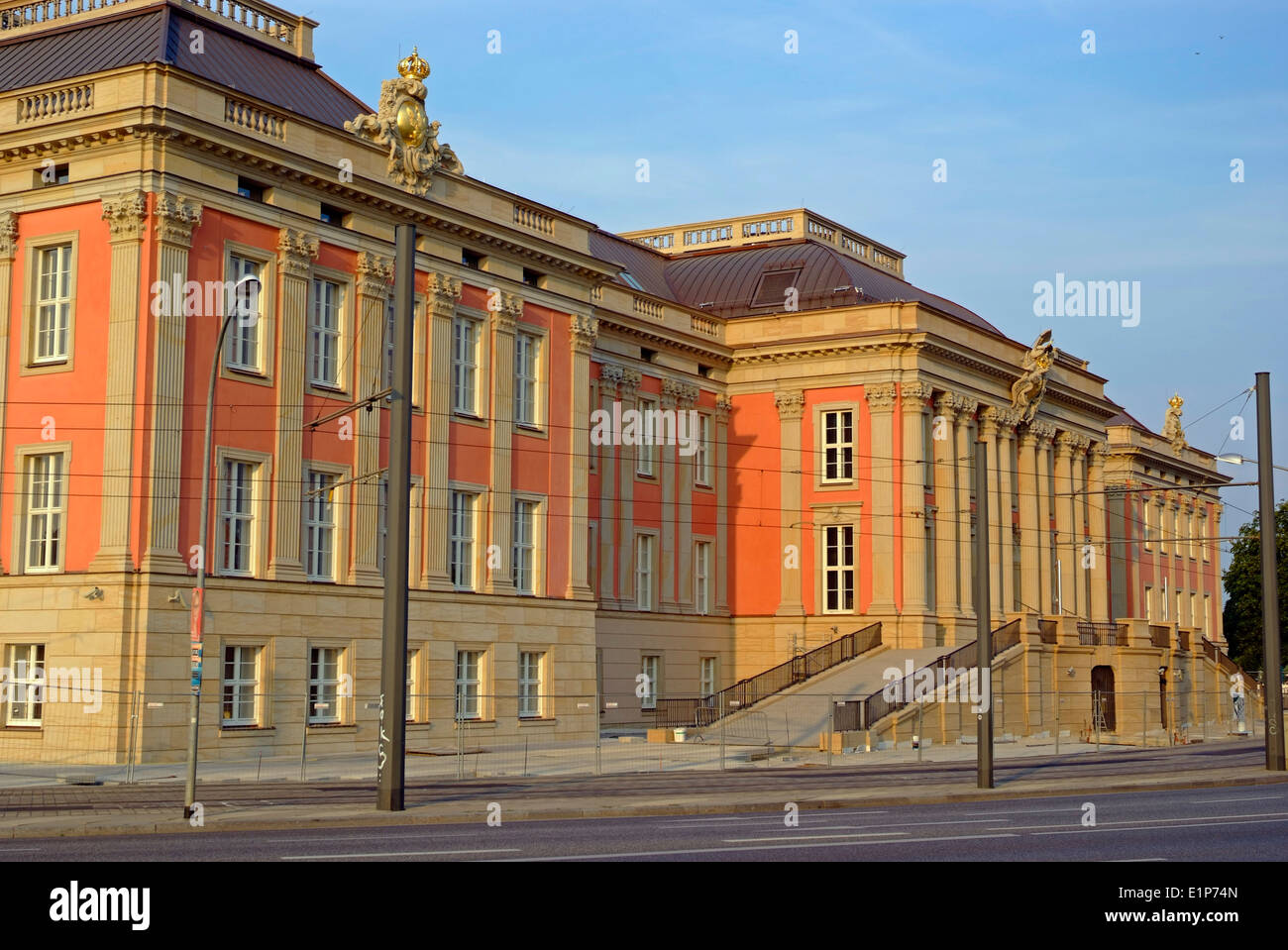 House Reconstruction new house (reconstruction) of parliament in potsdam germany stock