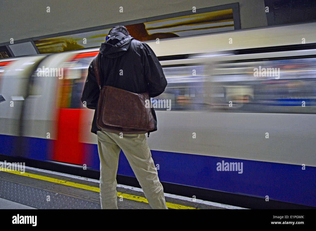 Piccadilly Line train Green Park Underground Station City of