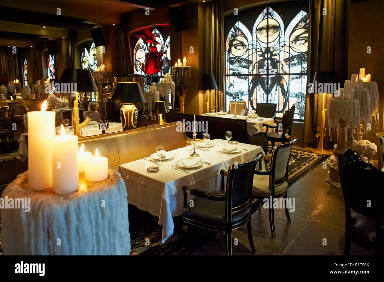 Russia moscow bon restaurant by philippe starck stock photo russia moscow bon restaurant by philippe starck arubaitofo Images