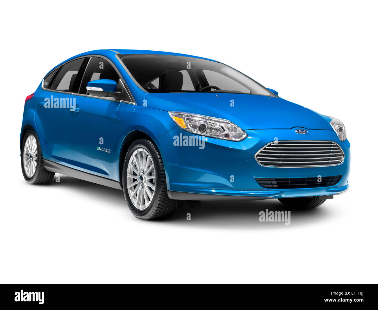 Ford focus electric car isolated on white background stock image