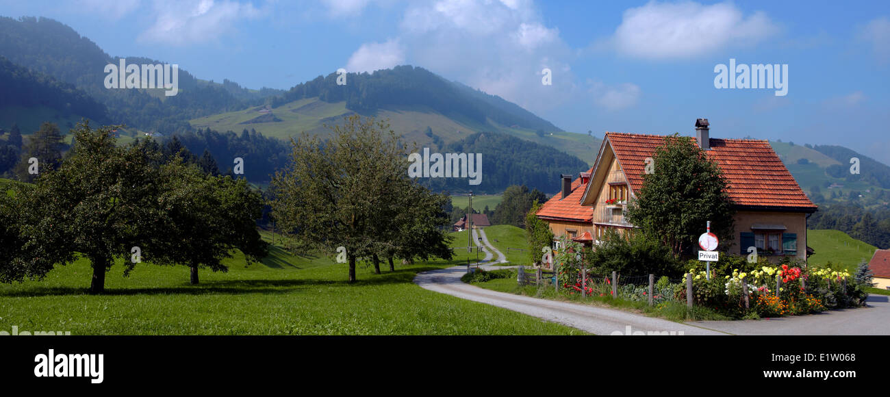 Europe Switzerland Appenzell Innerrhoden Canton Haslen area the