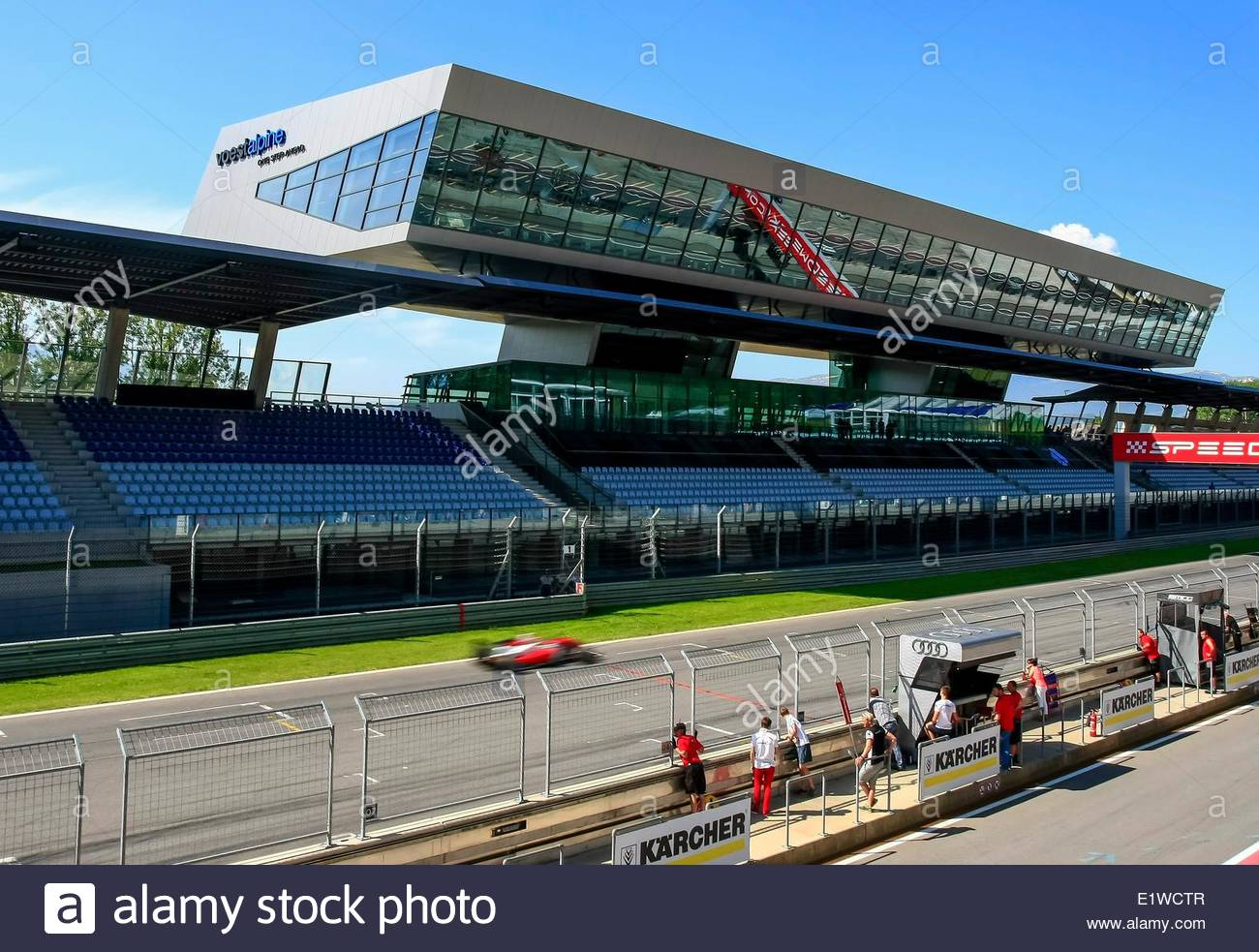 stock photo epa04243751 view of the voestalpine wing during the adac gt masters race at the red bull ring race track in spielberg austria 07 june 2014 austria view red bull