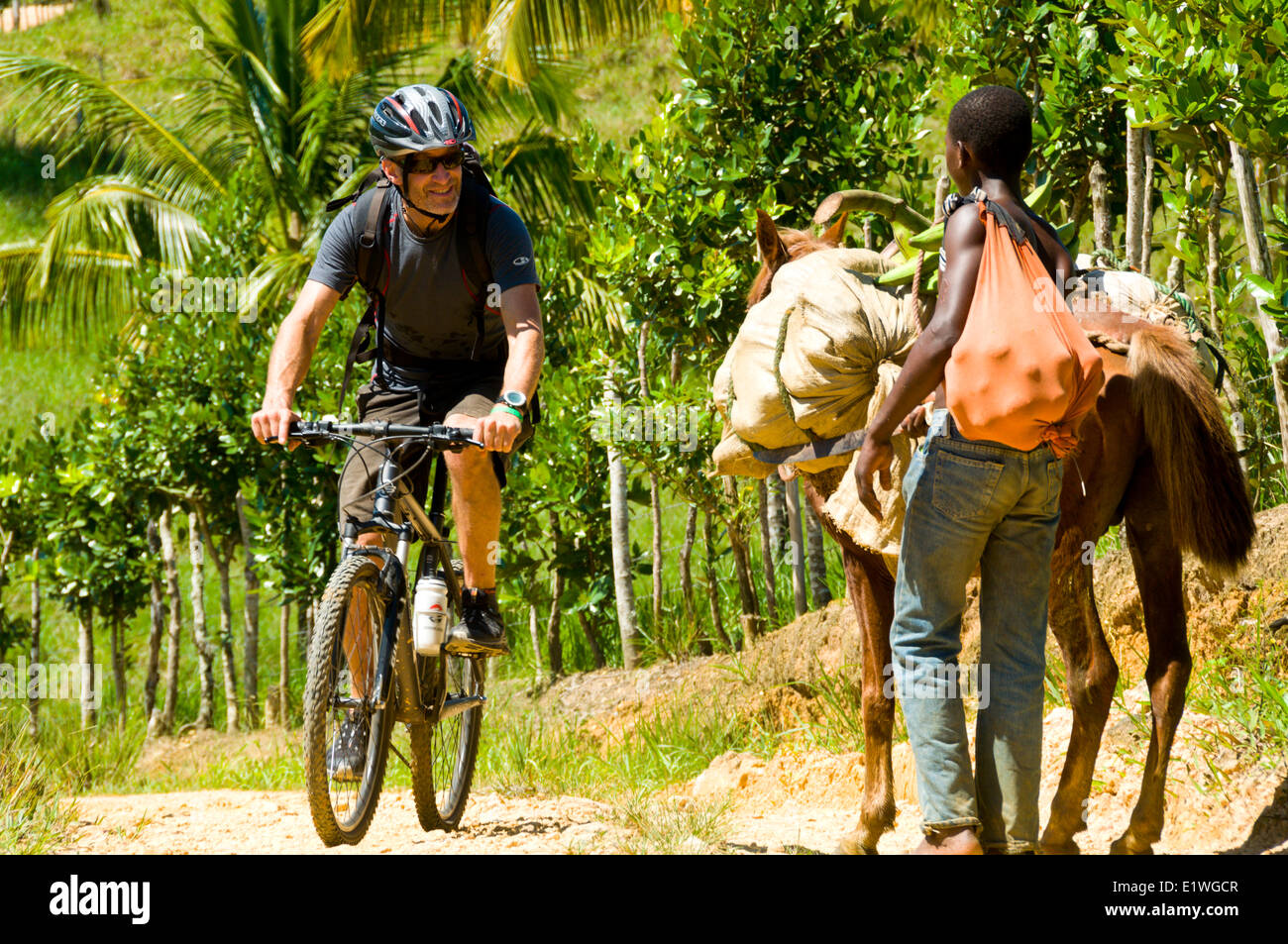 encountered stock photos encountered stock images alamy a friendly local campesino encountered on a mountain biking trip n republic stock image