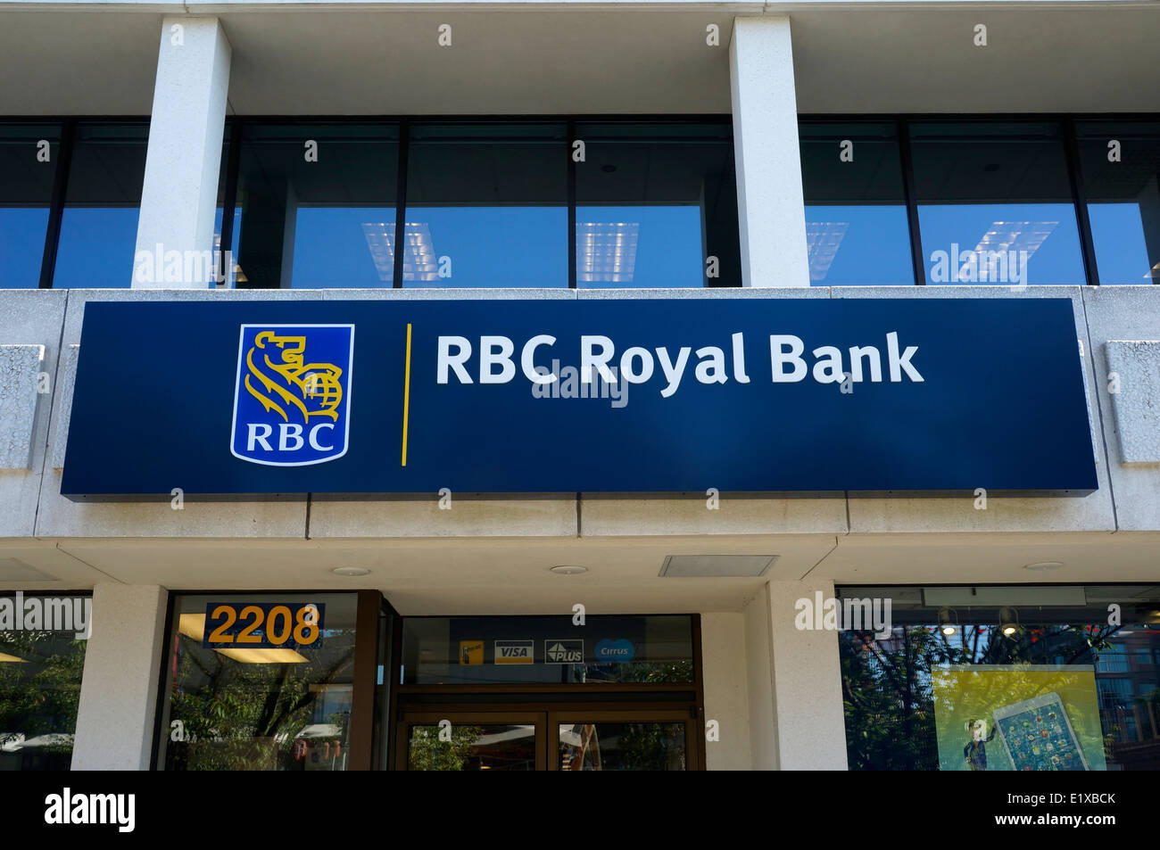 Rbc Royal Bank Of Canada Sign In Kerrisdale, Vancouver, Bc, Canada  Stock