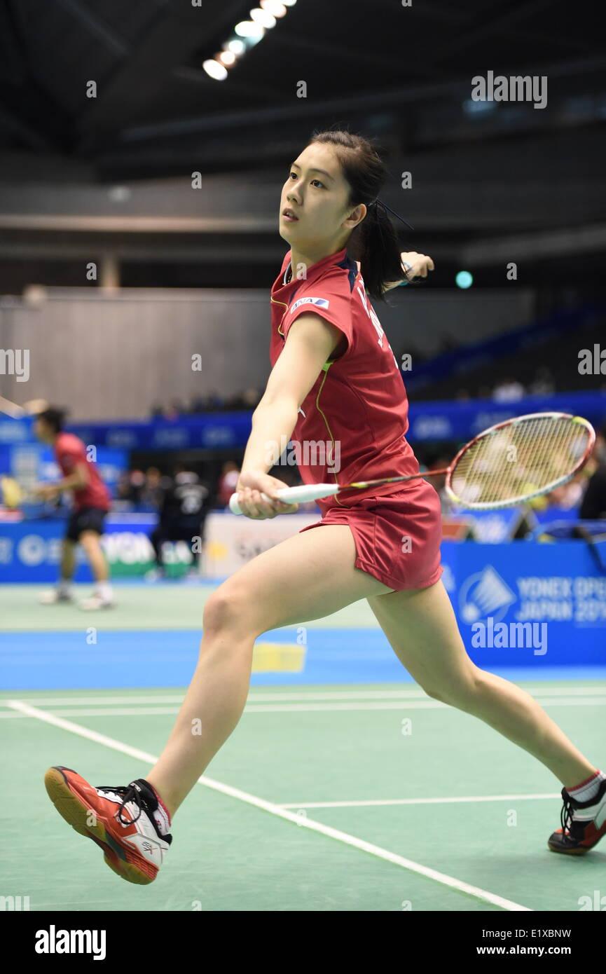 Tokyo Japan 10th June 2014 Aya Ohori JPN Badminton Yonex