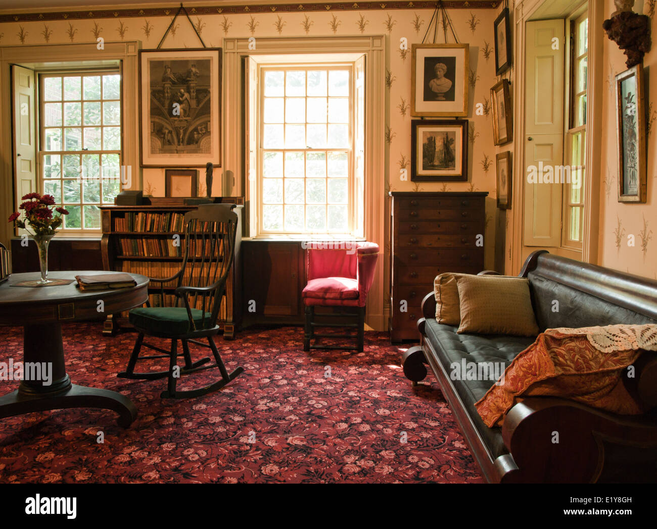Den Or Study In An Old Victorian Mansion Stock Photo Royalty Free
