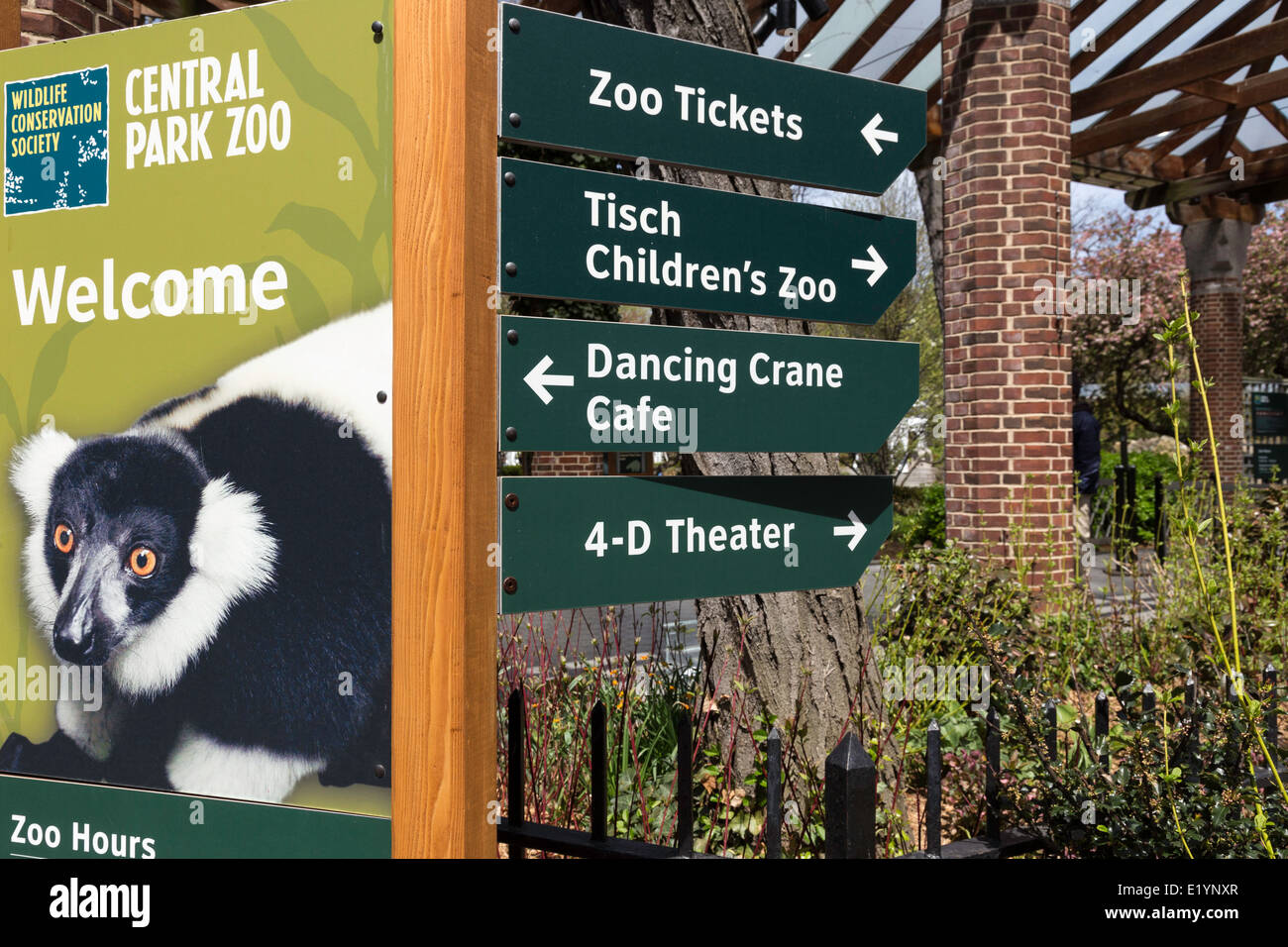 central park zoo signs nyc usa stock photo royalty free image 70066047 alamy. Black Bedroom Furniture Sets. Home Design Ideas