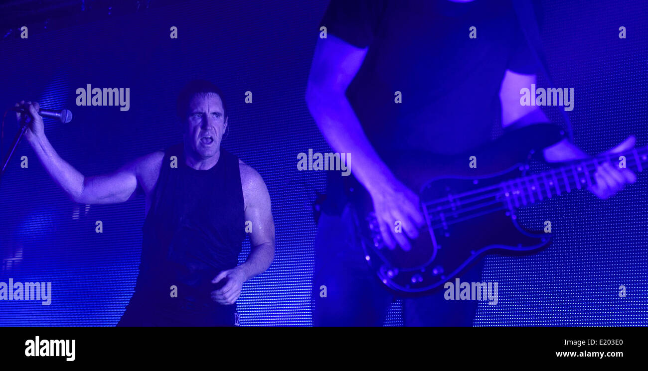 Prague, Czech Republic. 11th June, 2014. Nine Inch Nails vocalist ...