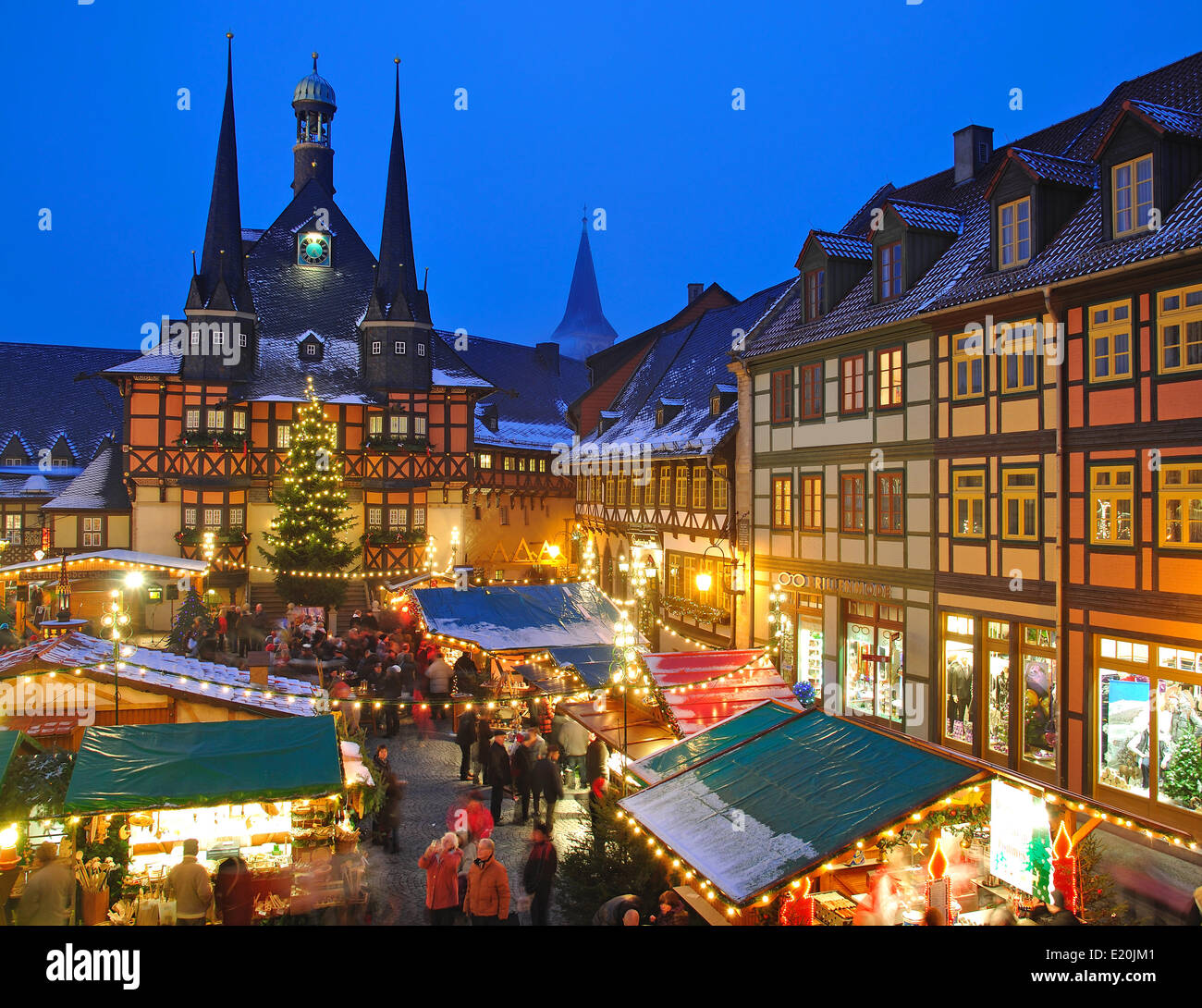 christmas market in wernigerode stock photo royalty free. Black Bedroom Furniture Sets. Home Design Ideas