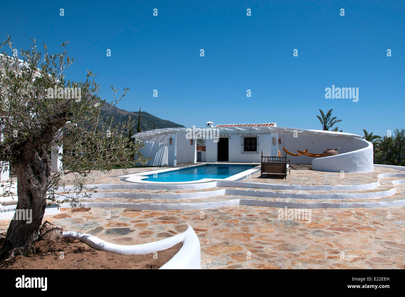 Canillas De Aceituno Malaga Spain Spanish White House Villa Estate Stock Photo Royalty Free